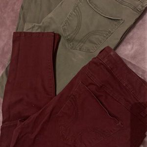 Bundle of two HCO colored jegging style jeans